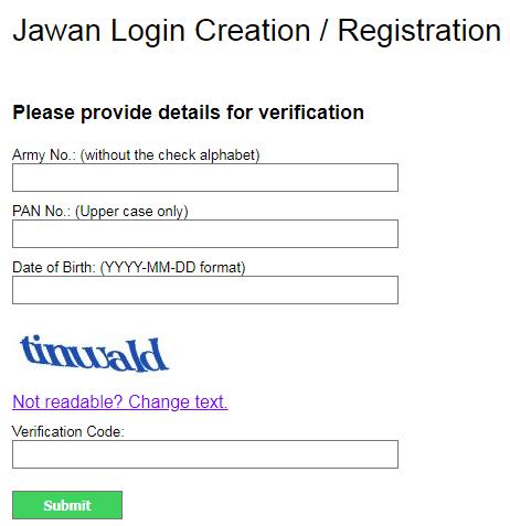 PAO AMC Payslip Jawan Registration - paoamc.gov.in register